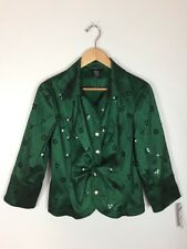 Cachet Deep Green Formal Top, Size 10, NWT