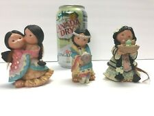 Enesco Friends of the Feather Figurine Lot if three Wolf Hug Mother