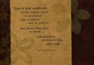 I Treasure You Family Love & Encouragement Theme Maya Angelou Hallmark Card
