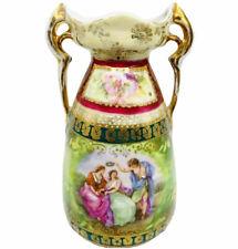 New listing Antique Erdmann Schlegelmilch Tapestry Vase Es Prussia Prov Sxe Maidens 4.9�H