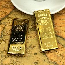 1pcs Novel Gold Brick Bar Butane Gas Lighter Metal Windproof Lighter Gifts