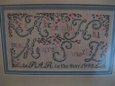 """ALPHABET GARDEN""  CROSS STITCH SAMPLER PATTERN BY PAT ROGERS"