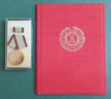 DDR Medaille + Urkunde - NVA - Medaille für treue Dienste Grenztruppen - 1983