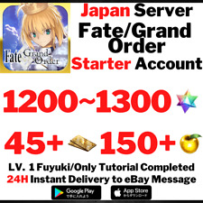 [JP] [Instant] 1200~1300 SQ Fate/Grand Order FGO Lv 1 Starter Account
