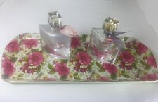 Vintage Royal Chintz Formalities By Baum 15.5� tray with gold edges (Preowned)