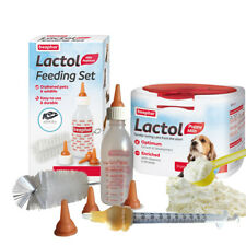 Beaphar Puppy Milk & Lactol Feeding Set Bottle Modified Syringe Nurser Whelping