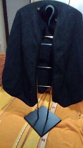 Trachten Poncho Loden Bekleidung Orginal Austria Gr40 schwarz-grau