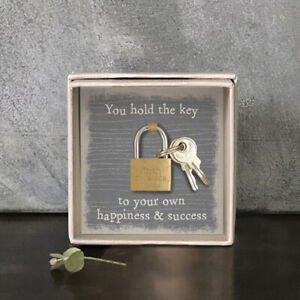 Lock In a Box Key to Happiness Success Kit Gift Fun Novelty Gifts East of India