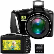Digital Camera, 2.7K 48MP Full HD Point and Shoot Camera with 3