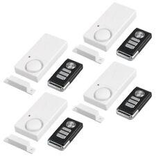 4 Packs Magnetic Sensor Door Window Safety Burglar Alarm Wireless Remote Control