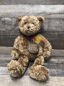 "GUND Teddy Bear ""BEARESSENCE"" Vintage Stuffed Animal Plush With Tag"