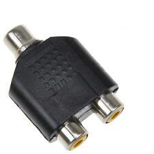 1x Femelle vers 2x Femelle câble adaptateur RCA y splitter av audio plug convert
