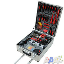 186PC PORTABLE COMPLETE TOOL KIT TROLLEY CASE PROFESSIONAL DIY GARAGE USE