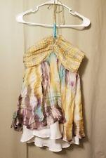 Zara Woman - 100% Silk Multi-color Halter Top Size M      KT17/