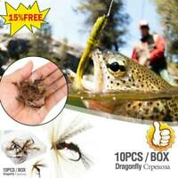 10XInsects Flies Fly Fishing Lures Topwater Dragonfly Bait Artificial Flies D7K0