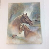 Ruane Manning 1995 Art Horses Scafa Tornabene Art Print Horse Colt Signed