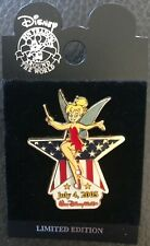 New Walt Disney World 4th of July Tinker Bell Limited Edition Pin Flag Star 2005