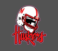 University of Nebraska Cornhuskers NCAA Football Vinyl Decal
