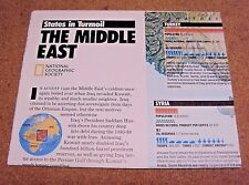 National Geographic February 1991 Map States In Turmoil The Middle East