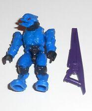 Halo Mega Bloks cifras ~ 2009 Convenant Elite Combate (Cobalto) y rifle de Haz