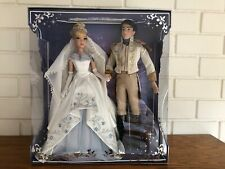 "New ListingLimited Edition Disney Store Platinum Cinderella Prince Wedding Doll Nrfb 17"""