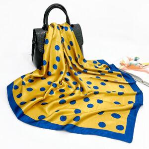 Imitate Silk Scarf Women Fashion Square Scarf Polka Dot Shawl Stole Hijab 90cm