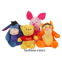 "New Winnie The Pooh & Friends Tigger Eeyore Piglet cute Plush toy Doll 5"" Gift"