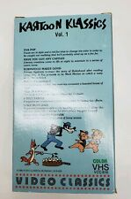 Kartoon Klassics Vol 1 VHS RARE OOP Cult Animation Cartoons 30's 40's