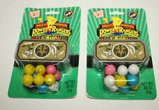 1995 Mighty Morphin Power Rangers TWO PACK CLIP-ON BELT BUCKLE GUMBALL DISPENSER