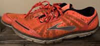 Brooks Pure Connect Mens Size 11 Running Shoes Orange Black Grey