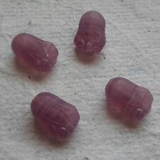 Czech Glass Beads ~ 20 x 6mm Tulip ~ Flower ~ Paw ~ Purple