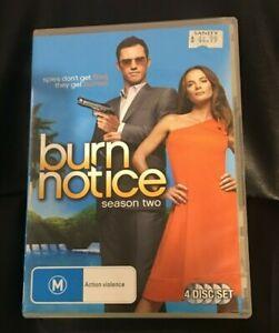 Burn Notice : Season 2 (2010 : 4 Disc DVD Set) Very Good Condition Region 4