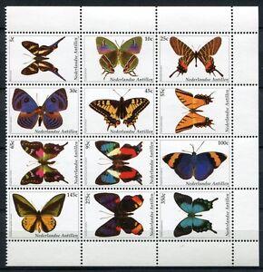 Niederländische Antillen Antilles 2003 Schmetterlinge Butterflies 1184-1195 MNH