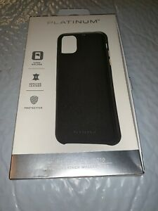 Platinum - Leather Wallet Case for Apple® iPhone® 11 Pro Max - Black Brand New!!