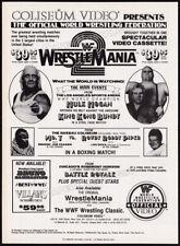 WRESTLEMANIA 2__Original 1986 print AD promo__HULK HOGAN__WWF__Rowdy Roddy Piper