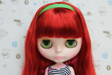 12'' Takara Nude Blythe Neo Doll From Factory Long Wine Red Hair with Bangs