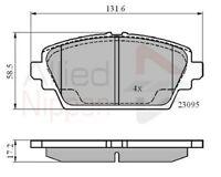 Allied Nippon Front Brake Pad Set ADB0802  - BRAND NEW - 5 YEAR WARRANTY