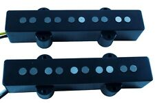Jazz bass 5 string pickups neck bridge set black alnico 5 cloth covered wire