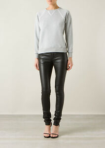 Femme Véritable Cuir D'Agneau Pantalon Classique Skinny Slim Fit Leggings