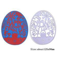 Metal Easter Egg Cutting Dies Scrapbooking Stencils Template for DIY Album Decor