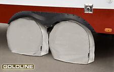 "Goldline Premium RV Tire Wheel Cover (Set of 4) Gray Fits 24"" - 26"" Inch Tires"