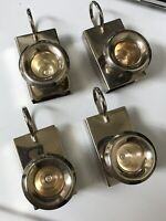 """Vintage Silver Tone Match Box & Candle Holder Set of 4 -Each 3.5""""L x 1.5""""W x 2""""H"""