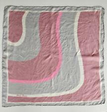 Block Freres Vintage Geometric Pattern Silk Scarf