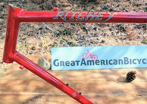 1984 Ritchey Competition ~ Fillet Brazed Frame-Horizontal Slotted dropouts  USA
