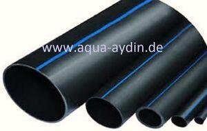 PE Rohr Verlegrohr Wasserleitung Trinkwassergeeignet DVGW geprüft versch. Größen