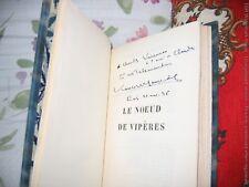 """""""Le Noeud de Vipères""""   François Mauriac  EO 1932 1/300 Avec Envoi à Varennes"""