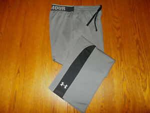 UNDER ARMOUR GRAY LOOSE FIT ATHLETIC PANTS MENS LARGE EXCELLENT CONDITION