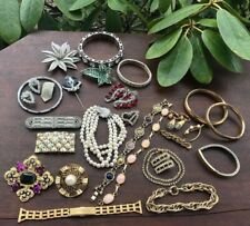 Vintage & Antique Jewelry Lot Art Deco-Mid Century Gold Filled Other 30 Pieces