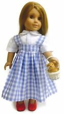 """Dorothy Dress with Toto & Shoes made for 18"""" American Girl Doll Clothes"""