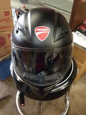 Ducati AGU S-4 SV DOT Motorcycle  Helmet Full Face w/Clear & Sun Shade Sze Small